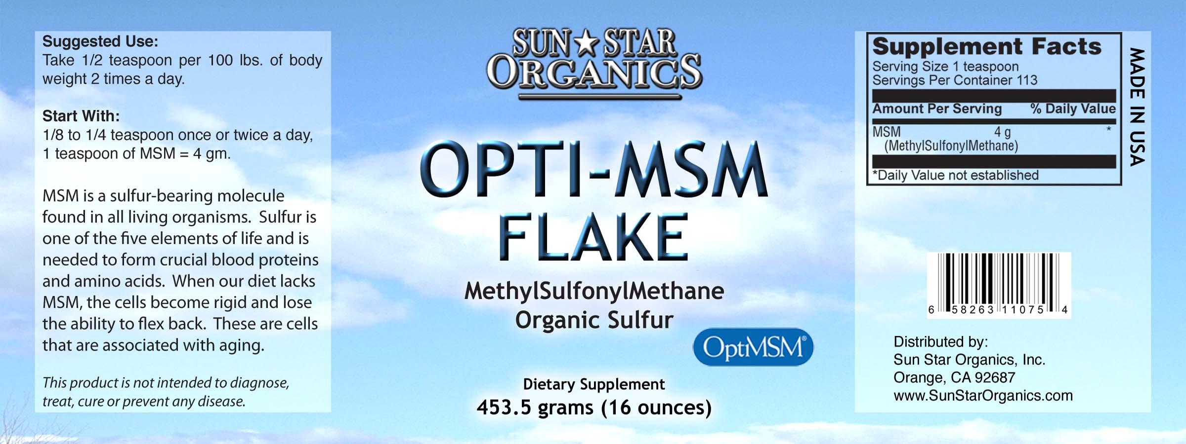 Opti-MSM Flake